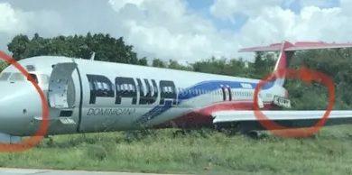 Aviones de Pawa son desmantelados en el aeropuerto Las Américas